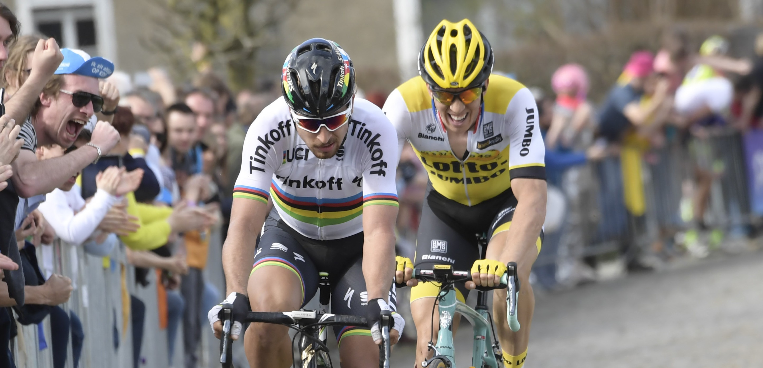03-04-2016 Tour Des Flandres; 2016, Tinkoff; 2016, Lotto Nl - Jumbo; Sagan, Peter; Vanmarcke, Sep; Old Kwaremont;