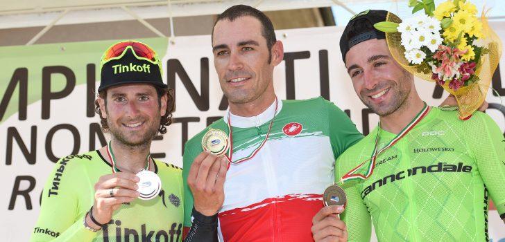 Manuel Quinziato Italiaans kampioen tijdrijden
