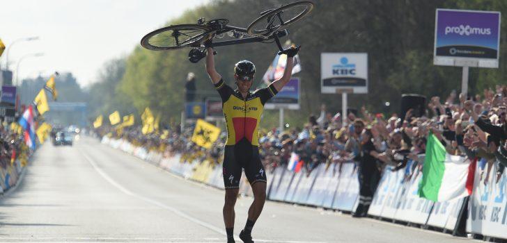 Gilbert imponeert met solozege in Ronde van Vlaanderen, Terpstra derde