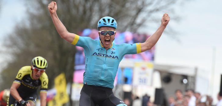 Michael Valgren zegeviert in de Amstel Gold Race