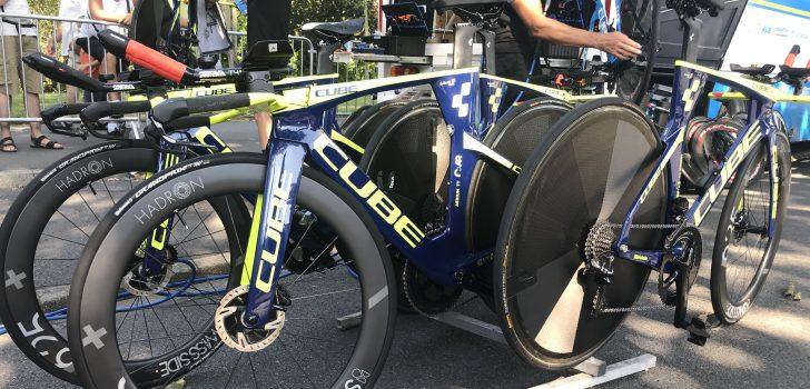 Tour 2018: Wanty-Groupe Gobert en Direct Energie met schijfremmen in ploegentijdrit