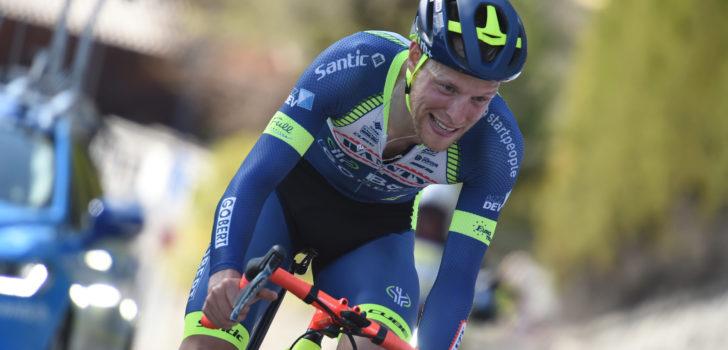 Xandro Meurisse sprint sneller dan Oscar Riesebeek in Druivenkoers