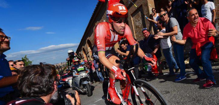Ondanks metaalsplinter in knie gaat Dumoulin volle bak in tijdrit Dauphiné
