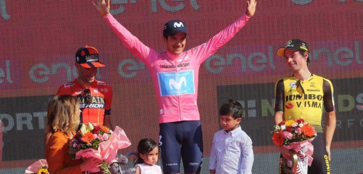 """Roglic eerste renner 'vernieuwd' Jumbo-Visma op eindpodium grote ronde: """"Trots"""""""