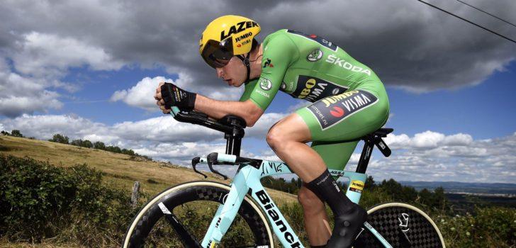 Van Aert verrast met tijdritzege in Dauphiné, Yates nieuwe leider