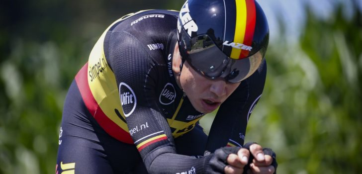 Tour 2019: Opgave Wout van Aert na zware val in tijdrit rond Pau