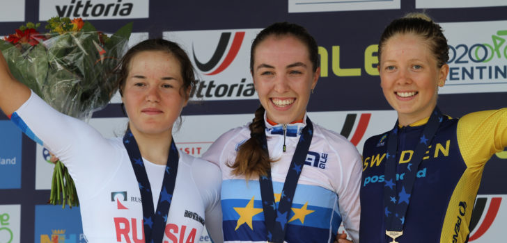 Shirin van Anrooij Europees tijdritkampioene bij de junioren