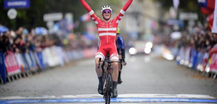 Pedersen debuteert in Tour de l'Eurométropole in regenboogtrui