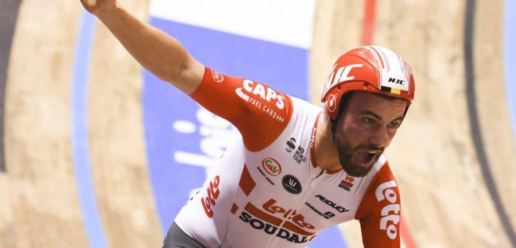 Victor Campenaerts pakt baanrecord 5 kilometer in Gent
