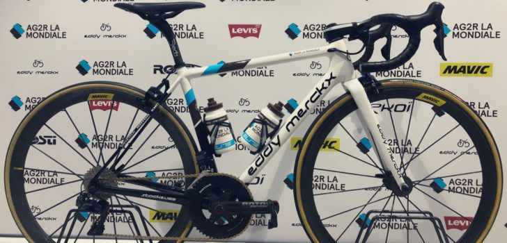 AG2R La Mondiale ruilt zwarte Merckx-fietsen in voor witte