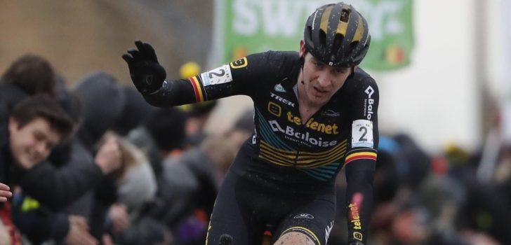Toon Aerts haalt het na geweldig duel om de overwinning in Kruibeke, Thibau Nys knap vijfde