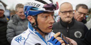 """Gebroken sleutelbeen voor Yves Lampaert: """"Nu bidden voor Fabio"""""""