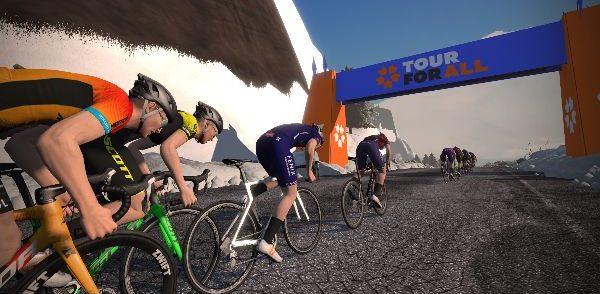 Zwift en Eurosport lanceren eRacing rittenkoers 'Tour for All'