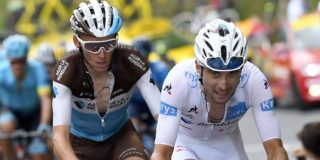 Pierre Latour en Romain Bardet delen kopmanschap in Tour