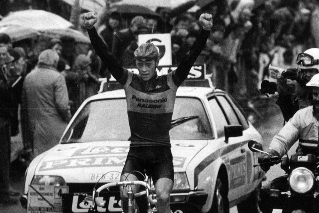 Eric Vanderaerden wint de Ronde van Vlaanderen 1985
