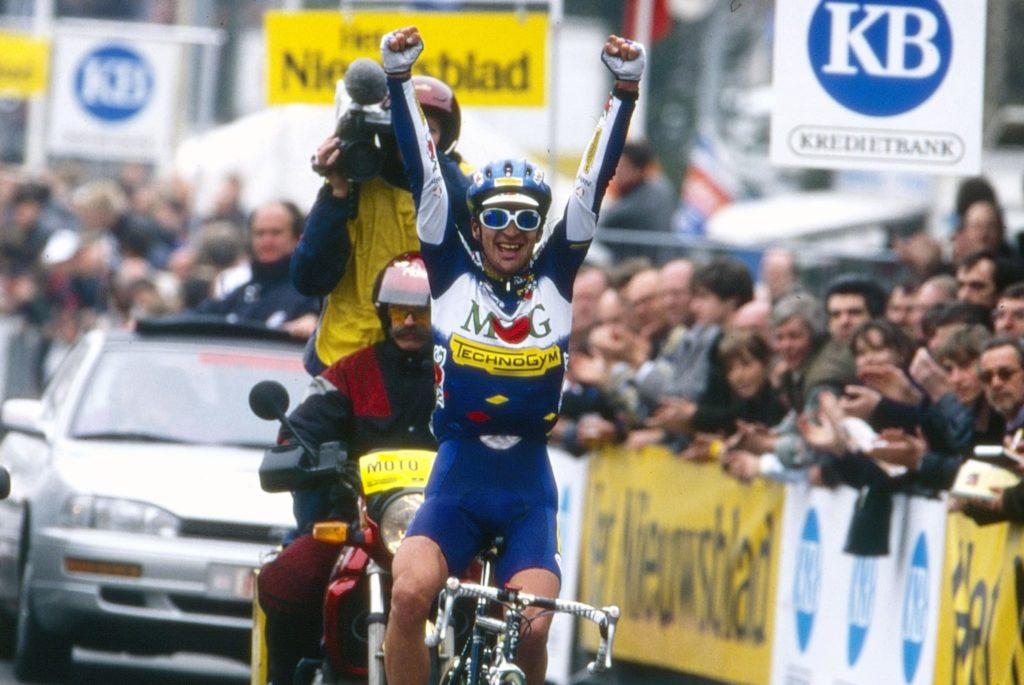 Michele Bartoli wint de Ronde van Vlaanderen 1996