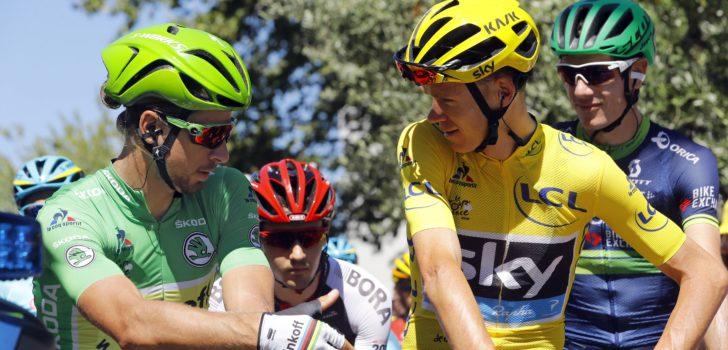 Sagan en Froome blijven de grootverdieners, Van Avermaet best betaalde Belg