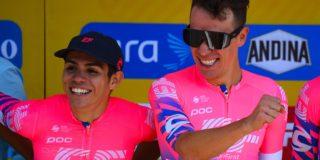 """EF-coach Peter Schep: """"Hopelijk kan Sergio Higuita zich aan Urán optrekken in de Tour"""""""
