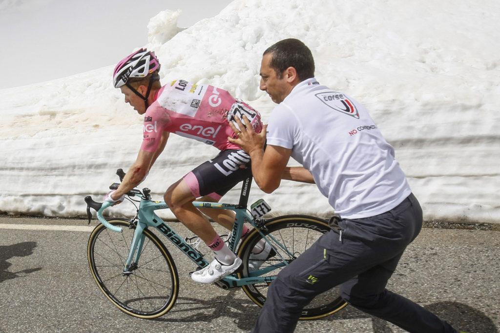 Kruijswijk verliest roze op Colle dell'Agnello