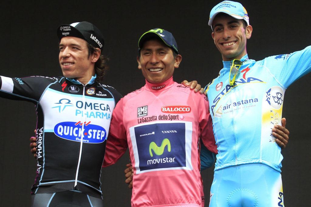 Podium Giro d'Italia 2014