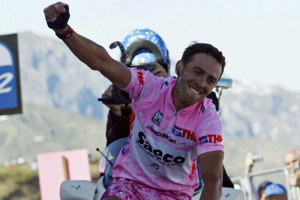 Gilberto Simoni wint op Monte Zoncolan