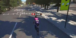 Woods beste klimmer op virtuele Mont Ventoux, NTT heeft eindzege bijna binnen