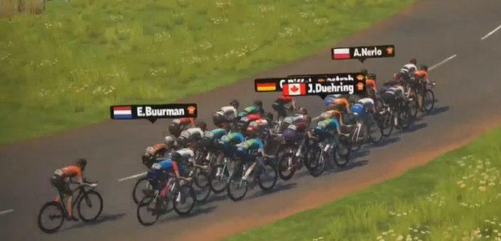 Tanja Erath sprint naar zege in Virtual Tour de France
