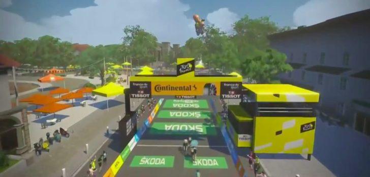 Tweede zege Tacey in Virtual Tour de France, TIBCO-SVB stevig aan kop