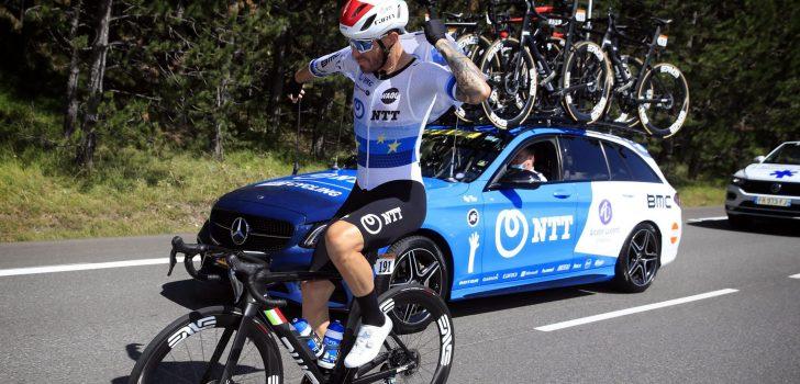 """Giacomo Nizzolo na opgave: """"Ik begon de etappe al met pijn"""""""