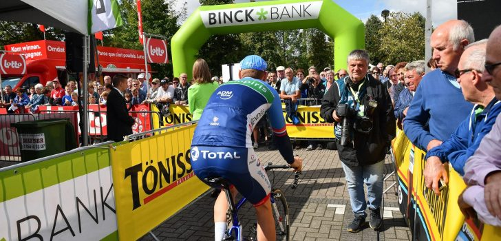 Aalter verzorgt ook de start van de donderdagetappe BinckBank Tour