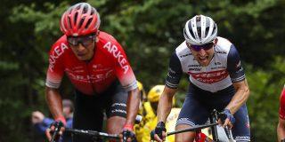 Tour 2020: Nairo Quintana houdt pijnlijke knie en elleboog over aan val