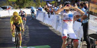 Tour 2020: Pogacar klopt Roglic op Grand Colombier, Bernal zakt door het ijs in bergrit