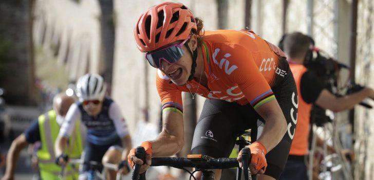 Marianne Vos wint op steile aankomst in Giro Rosa