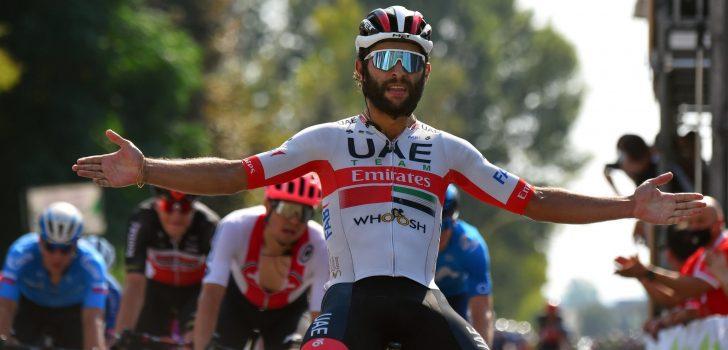 Fernando Gaviria spurt afgetekend naar de winst in Giro della Toscana