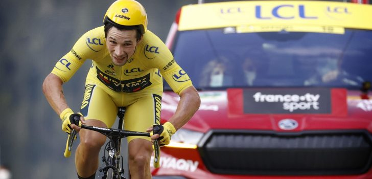 Hoogleraar aerodynamica wijt verlies Roglic deels aan tijdritpak en helm
