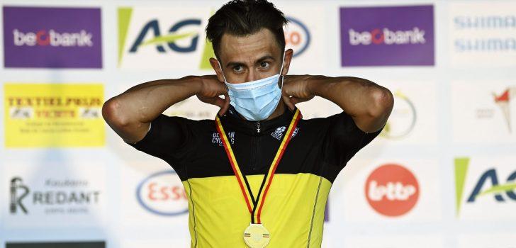 """Belgisch kampioen Dries De Bondt: """"In BinckBank Tour in steun van Mathieu"""""""
