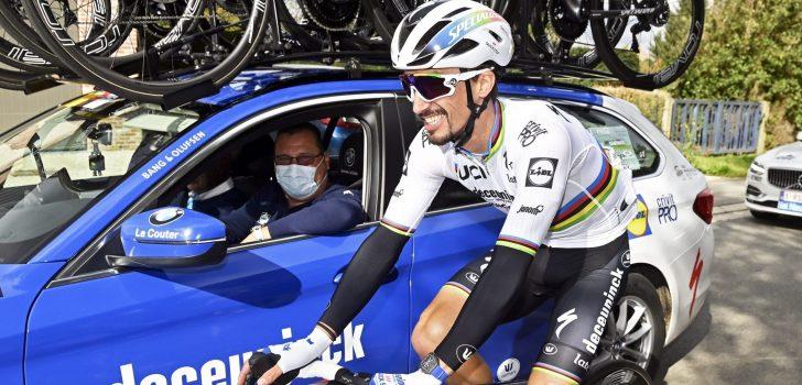 """Julian Alaphilippe wil Ronde van Vlaanderen ook in 2021 rijden: """"Ik hou van de kasseien"""""""