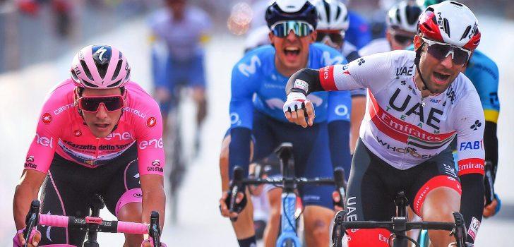 Giro 2020: Ulissi blijft Almeida nipt voor in Monselice