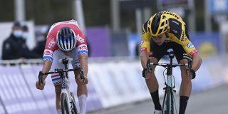 Van der Poel klopt Van Aert en wint de Ronde van Vlaanderen