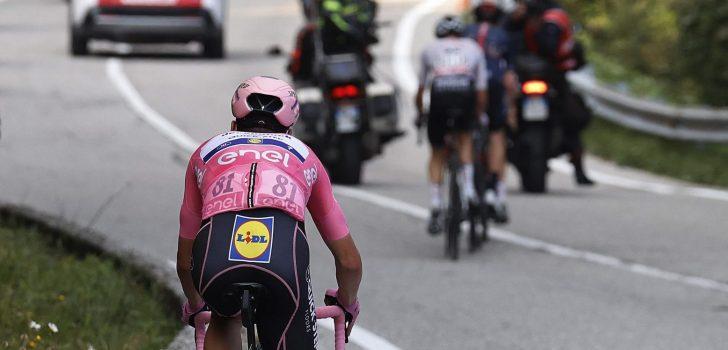 """João Almeida denkt nog altijd niet aan eindzege Giro: """"Podium zou al een droom zijn"""""""