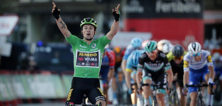 Vuelta 2020: Primoz Roglic na derde ritzege ook nieuwe leider