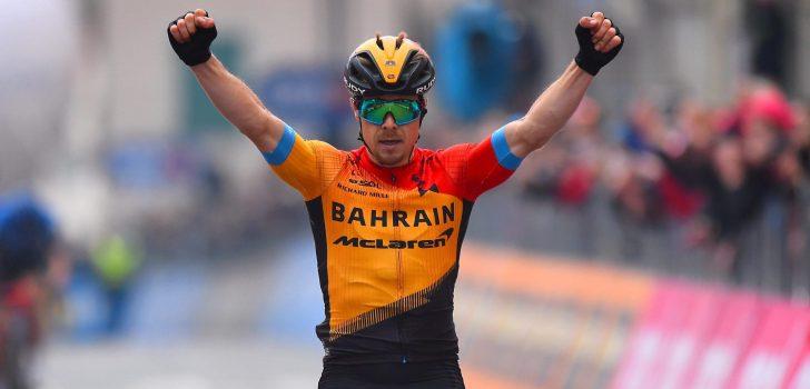 Giro 2020: Jan Tratnik is de sterkste vluchter in San Daniele del Friuli