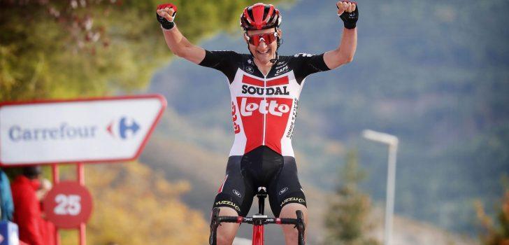 Tim Wellens viert Vuelta-ritzege met contractverlenging bij Lotto Soudal