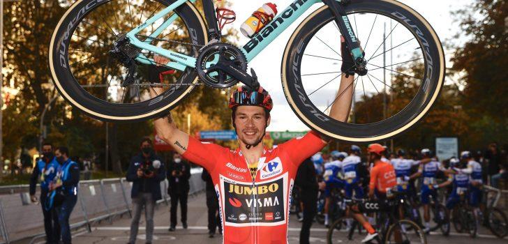 """Primoz Roglic wint weer Vuelta: """"Onmogelijk te vergelijken"""""""