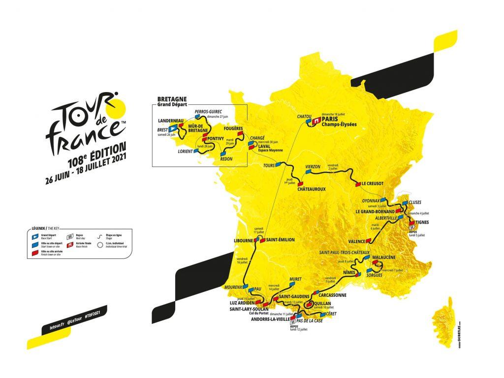 Dit is de route van de Tour de France 2021