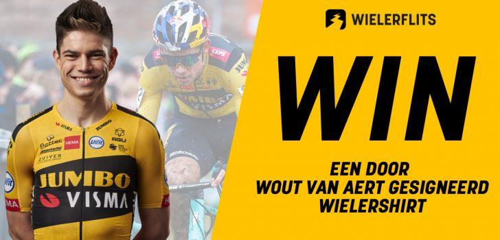 Speel mee met onze quiz en win een door Wout van Aert gesigneerd wielershirt