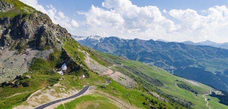 Col de la Loze: autovrije Franse Alpencol in Les Trois Vallées