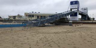 Parcoursverkenning WK: brug of strand wordt scherprechter