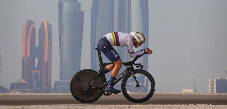 Filippo Ganna wint tijdrit UAE Tour, Tadej Pogačar nieuwe leider