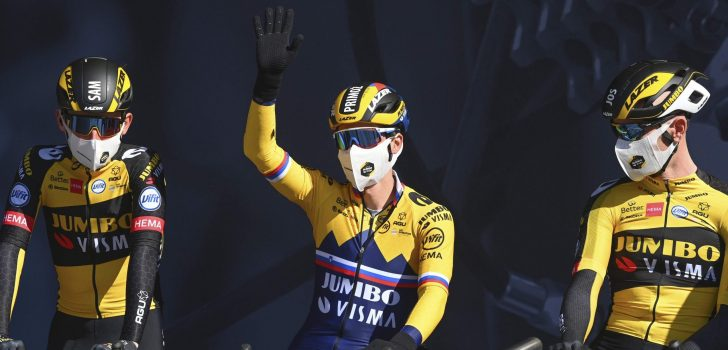 """Jumbo-Visma doorstaat eerste etappe Parijs-Nice: """"Het was heel hectisch"""""""